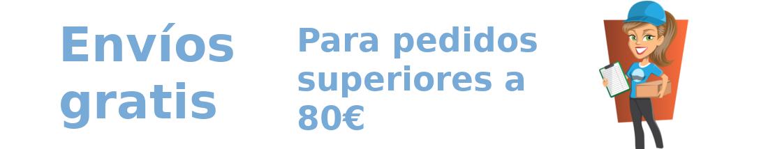 Envíos gratis para pedidos superiores a 80€