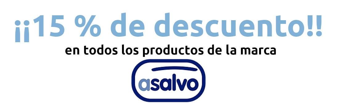15 % de descuento en productos de la marca ASALVO